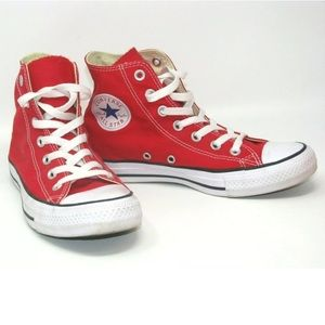 Converse Red High Top Sneakers Chuck Taylor 8
